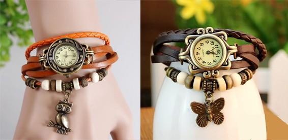 Часы винтажные женские с брелоком